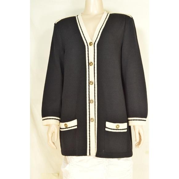 St. John Jackets & Blazers - St John Marie Gray jacket blazer M santana knit bl